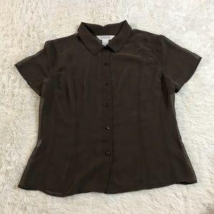Express women's button sheet blouse size 13/14 Lg